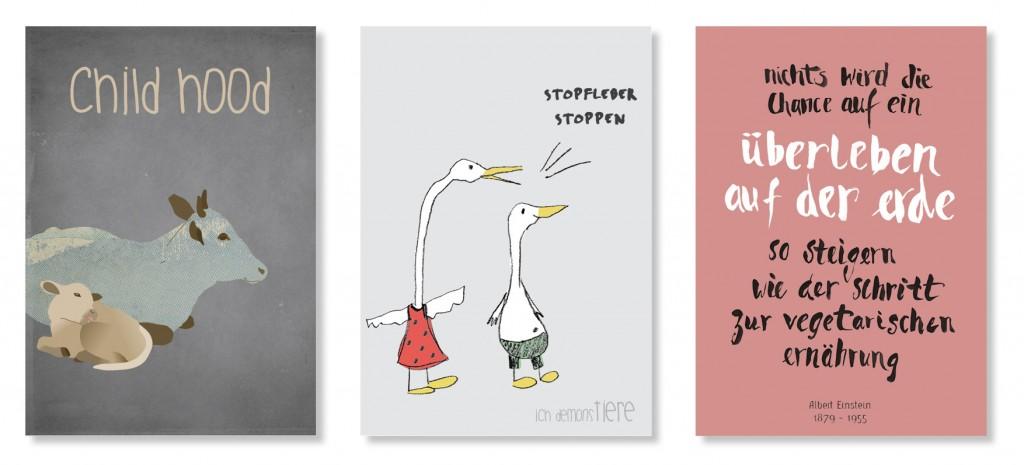 Tierhaltung Postkarten